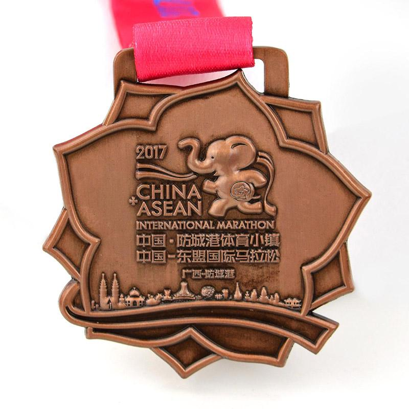 Oem Heart Shaped Metal Sports Race Medal Custom Finisher Medal