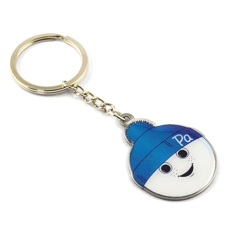 Promotional Gift Printed Keychain Custom Metal Baby Key Chain