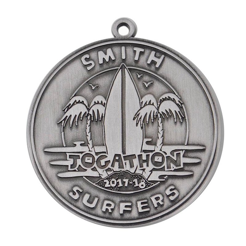 Engraved Custom Logo Souvenir Antique Metal Medal Malaysia