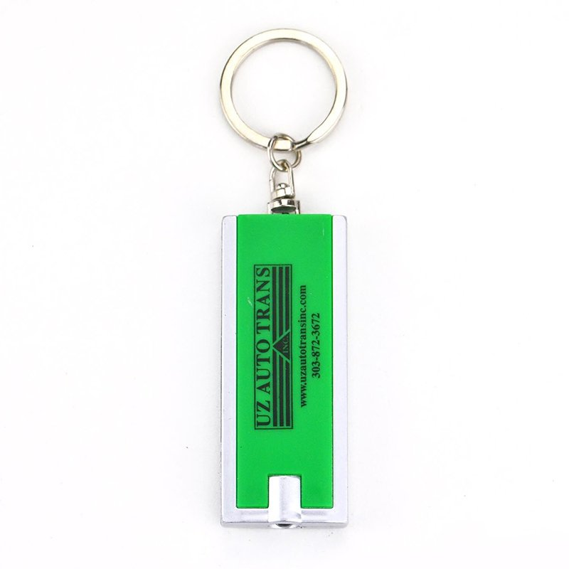 Factory Custom Led Keychain Flashlight Metal Light Keyring