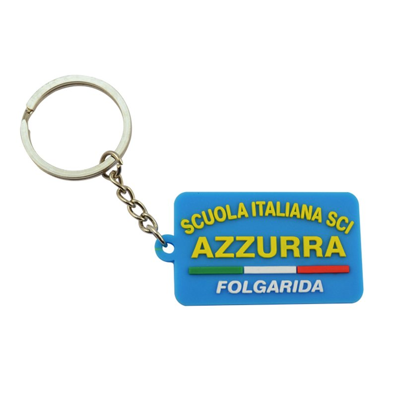 Custom Advertisement Rubber Keychain Personalised Pvc Keyring