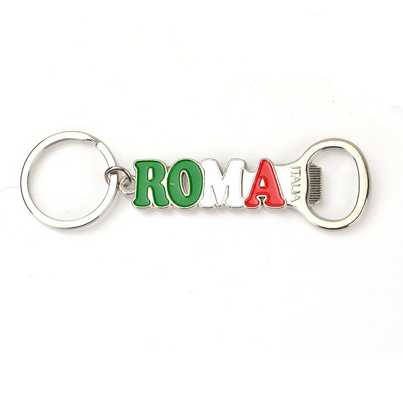Wholesale Metal Keychain Letter Keyring With Bottle Opener