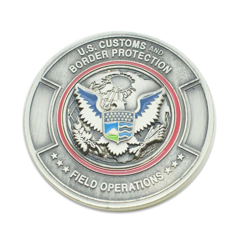 Free Design Your Own Metal Souvenir Coin Silver Eagle Coin
