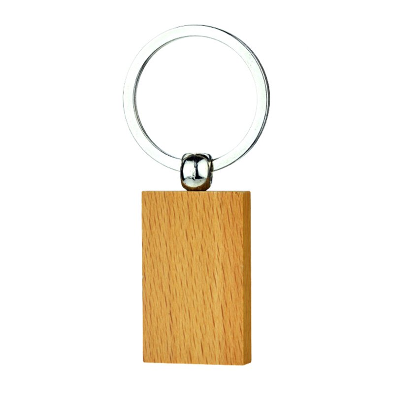 Oem Wood Key Chain Maker Cheap Custom Blank Wooden Keychain