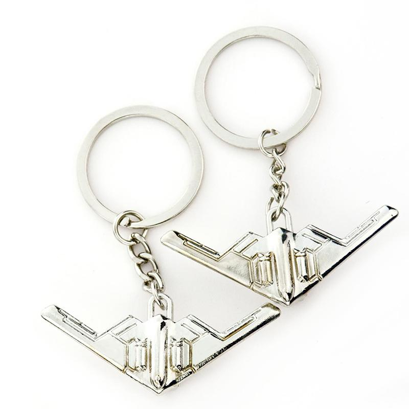 Custom Key Ring Stainless Steel Key Chain 3D Aircraft Keychain