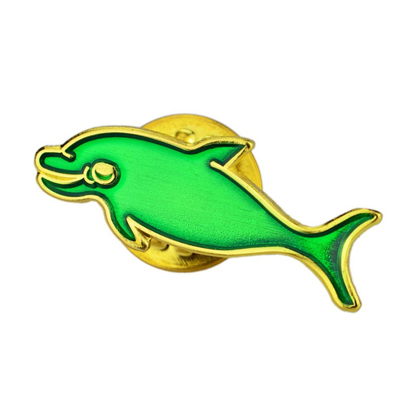 China Factoy Custom Soft Enamel Lapel Pin Fashion Fish Pin
