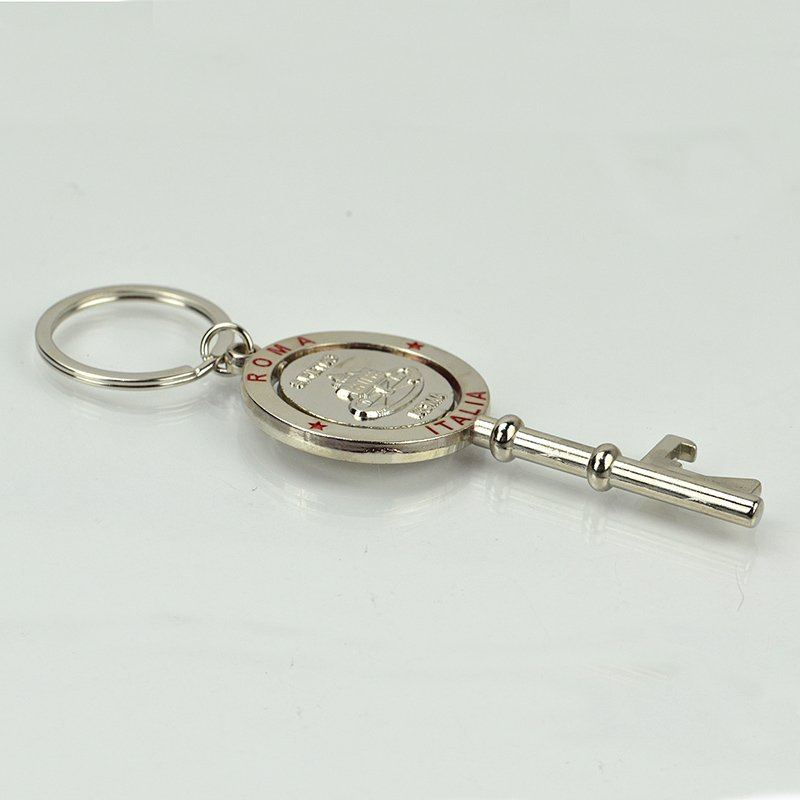Rotating Keychain Metal Custom Key Shaped Souvenir Key Chain