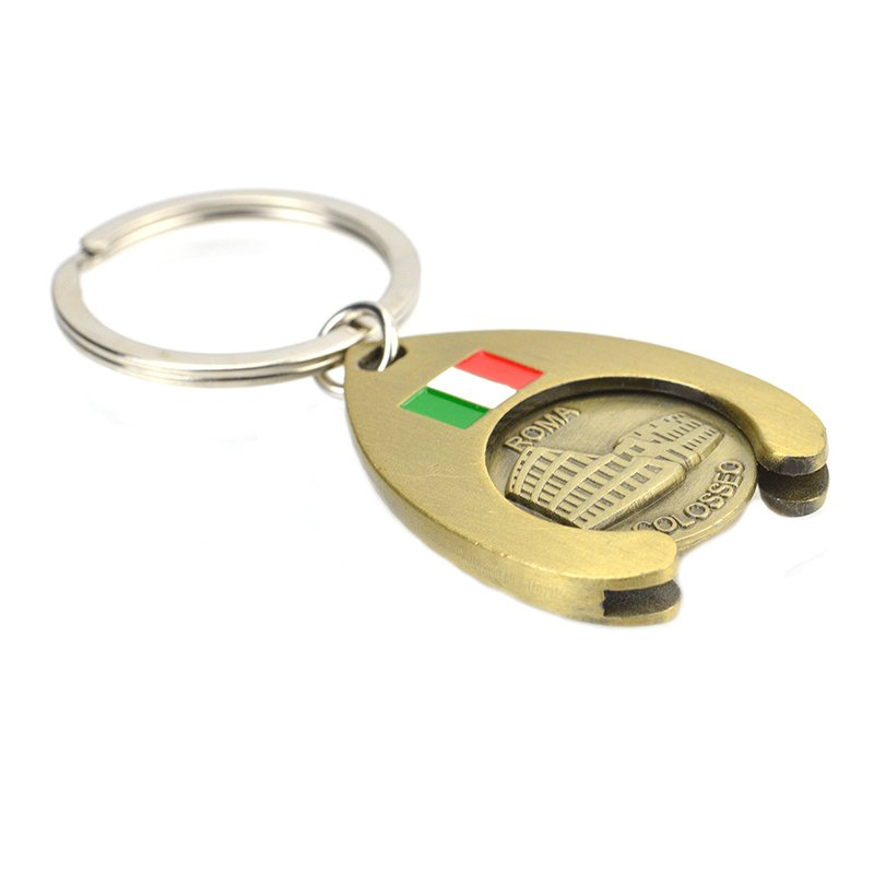 Custom Metal Keyholder Keychain Trolley Coin Holder Key Chain