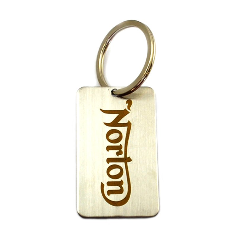 Metal Plate Keychain Custom Cheap Dog Tag Key Chain Ring