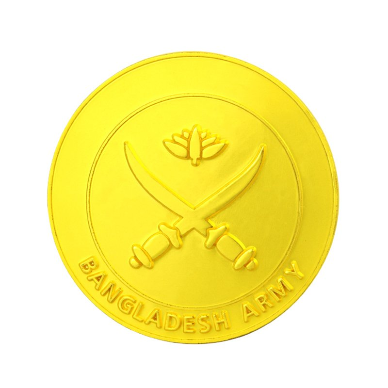 Custom Gold Coin Metal Plated Souvenir Tungsten Coin Logo