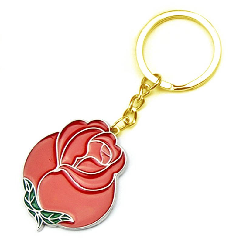Artigifts Custom Flower Key Chain Preserved Rose Keychain