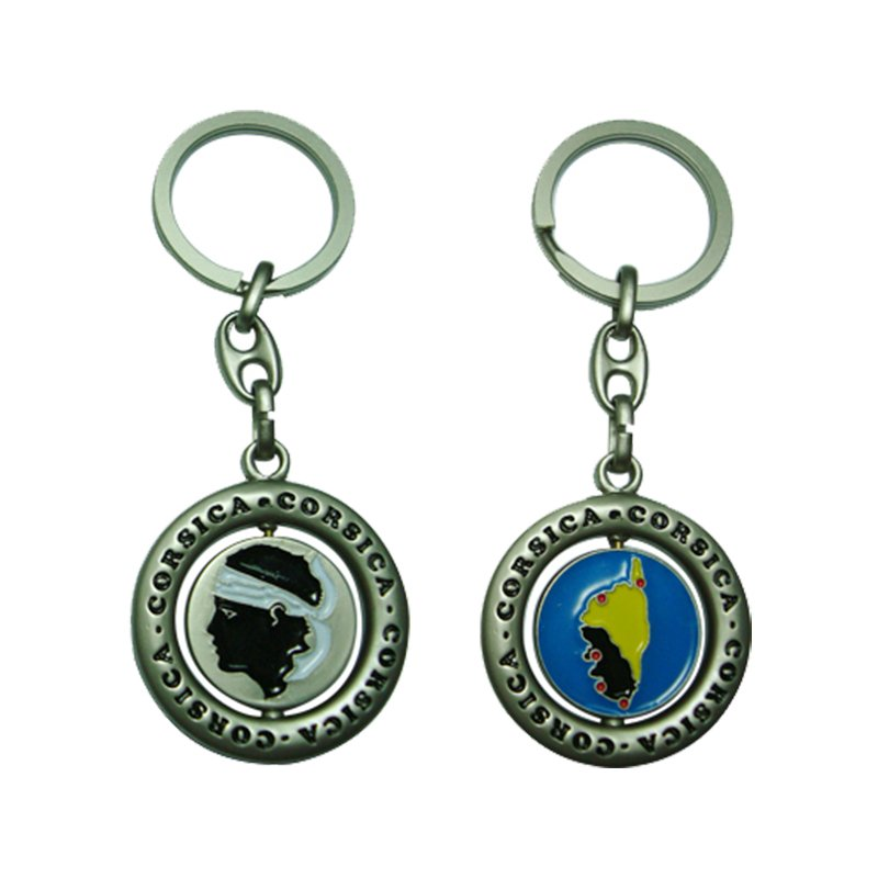 New Products Key Chain Personalized Metal Spinner Keychain
