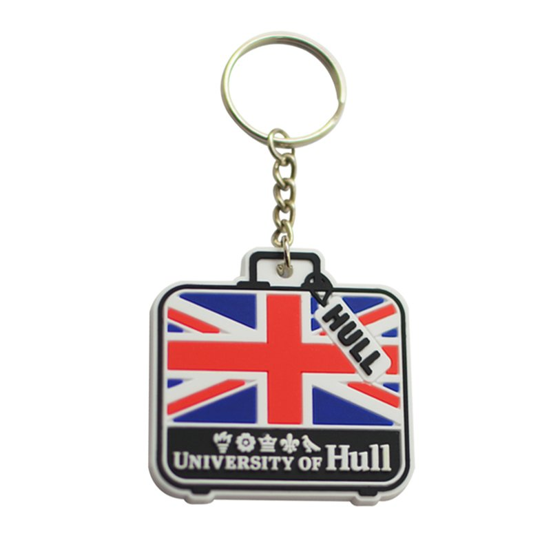 Wholesale Pvc Custom Keychain Rubber Keyring Uk Flag Key Chain