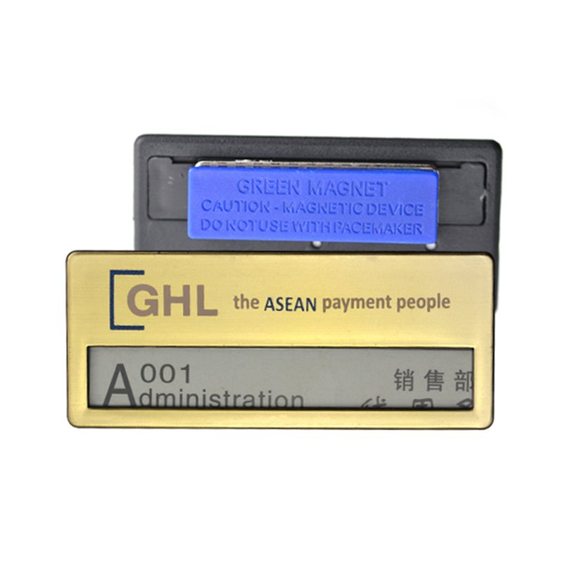 No Minimum Custom Logo Blank Plastic Name Badges With Pin