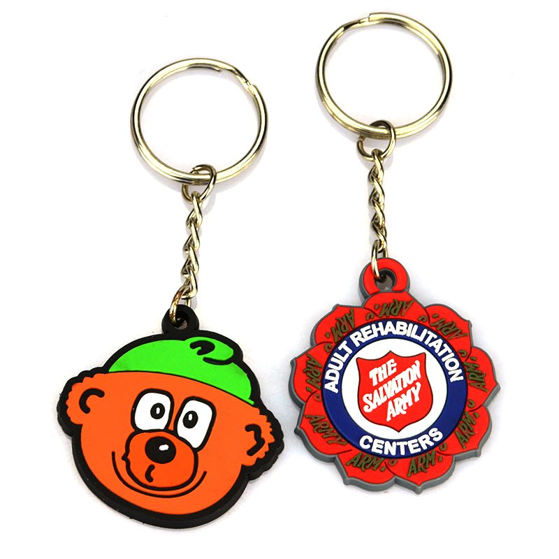 Custom Rubber Keychain No Minimum Soft Pvc Key Chain