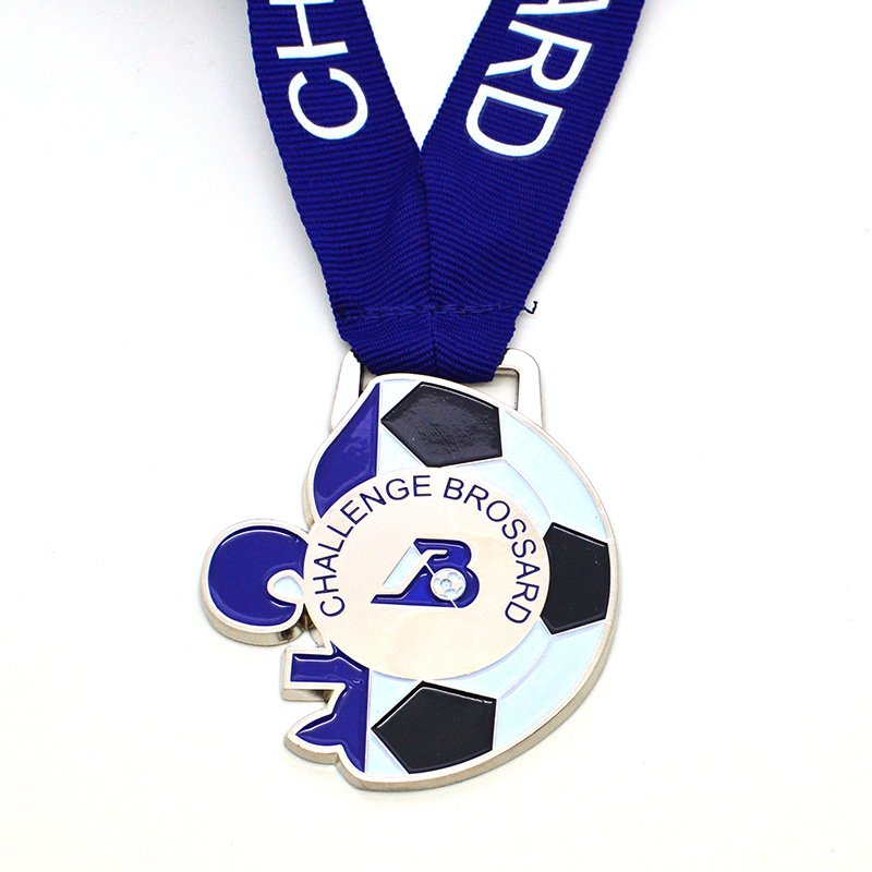 Custom Sports Medal Soccer Enamel Metal Football Medals