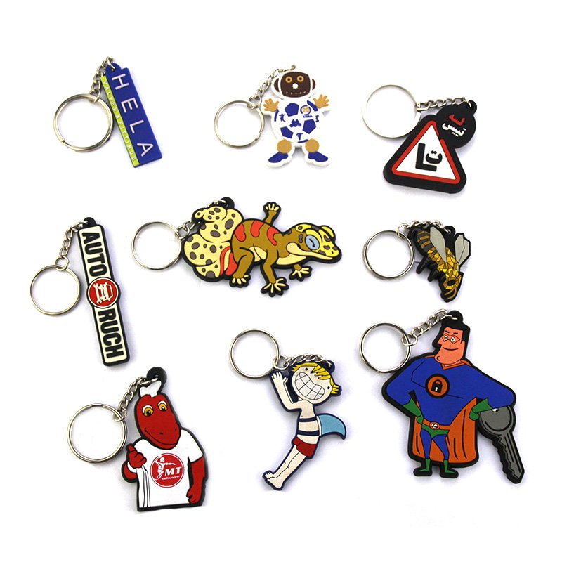 Wholesale Bulk Custom Keychains Cheap Soft Pvc Key Chain