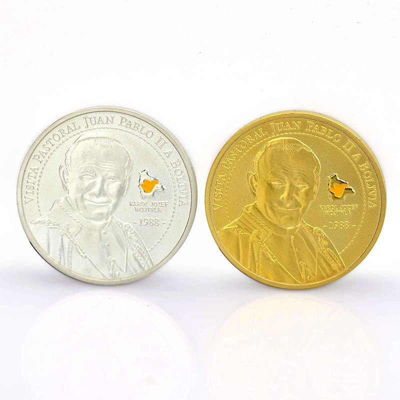 Custom Personalised Enamel Coins Cheap Metal Gold Silver Coin