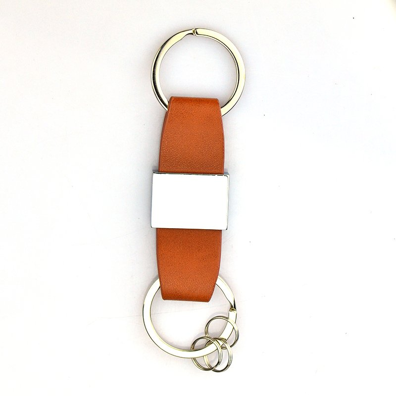 Wholesale Leather Keychains Custom Bulk Metal Pu Key Chain