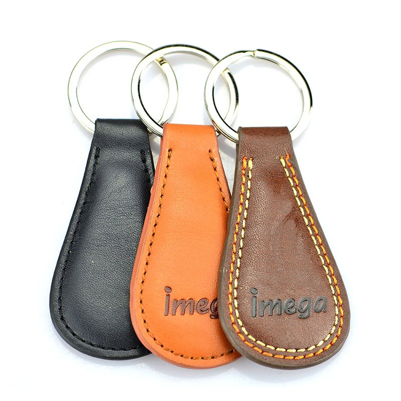 Printed Leather Keyrings Custom Bulk Cheap Pu Keychain
