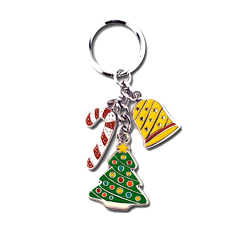 Custom Personalised Keyrings Bulk Christmas Metal Keychain