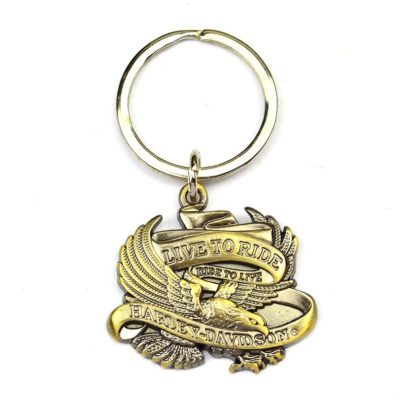 Brass Keychain Manufacturers Custom Bronze Eagle Key Chain
