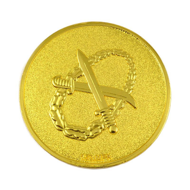 Gold Plated Tungsten Coins Metal Challenge Coin Custom