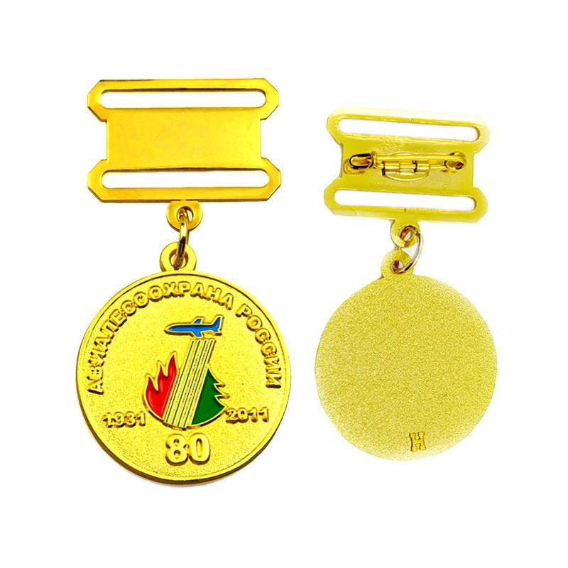Custom Honor Medal Pins Metal Gold Medal Badge Pin