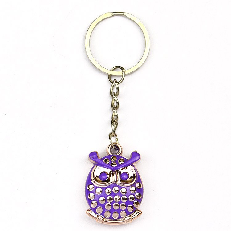 Owl Key Holder Custom Rhinestone Keychain Jewelry Key Chain
