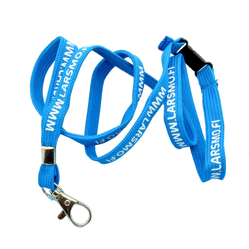 Custom Made Keychain Printed Tubular Lanyard With Key Holder