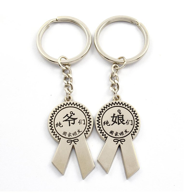 Custom Couple Key Holder Wholesale Chinese Metal Key Chain Keychains