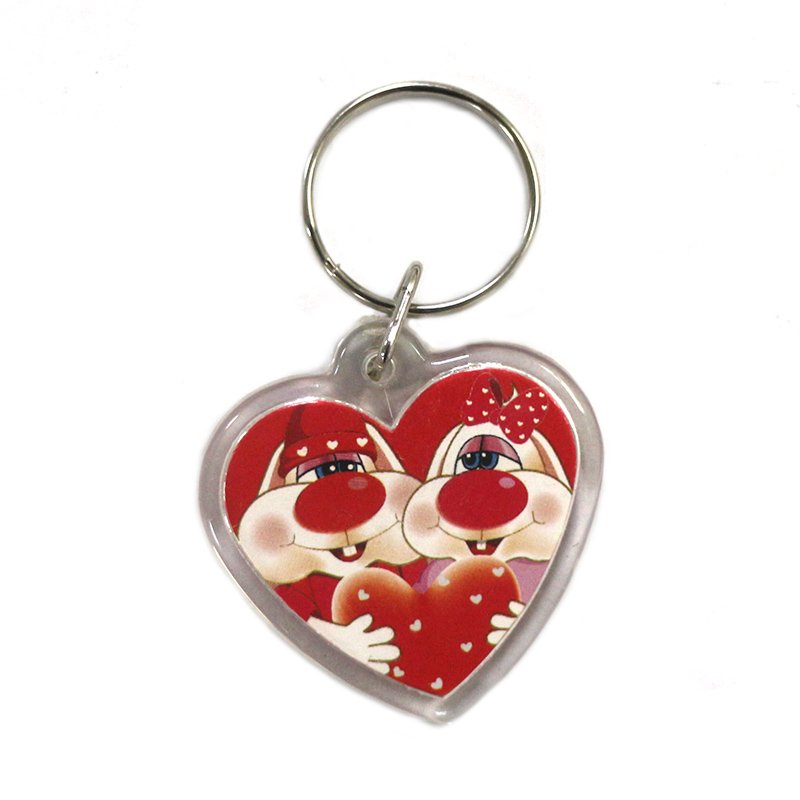 Custom Heart Photo Key Holder Wholesale Acrylic Keychain