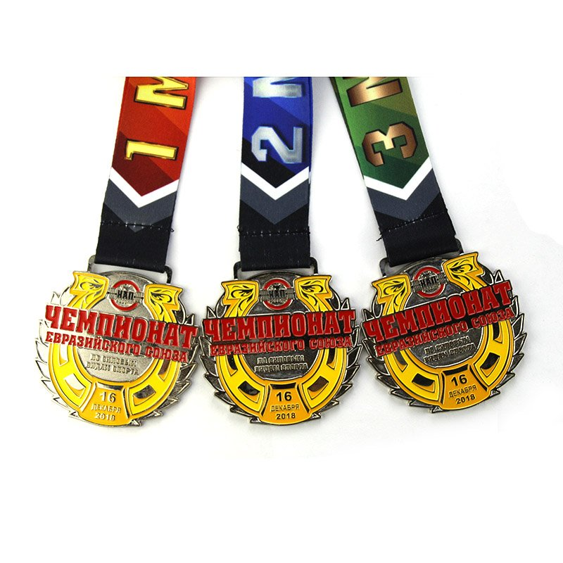 Metal Medal Suppliers Custom Marathon Medal With Lanyard