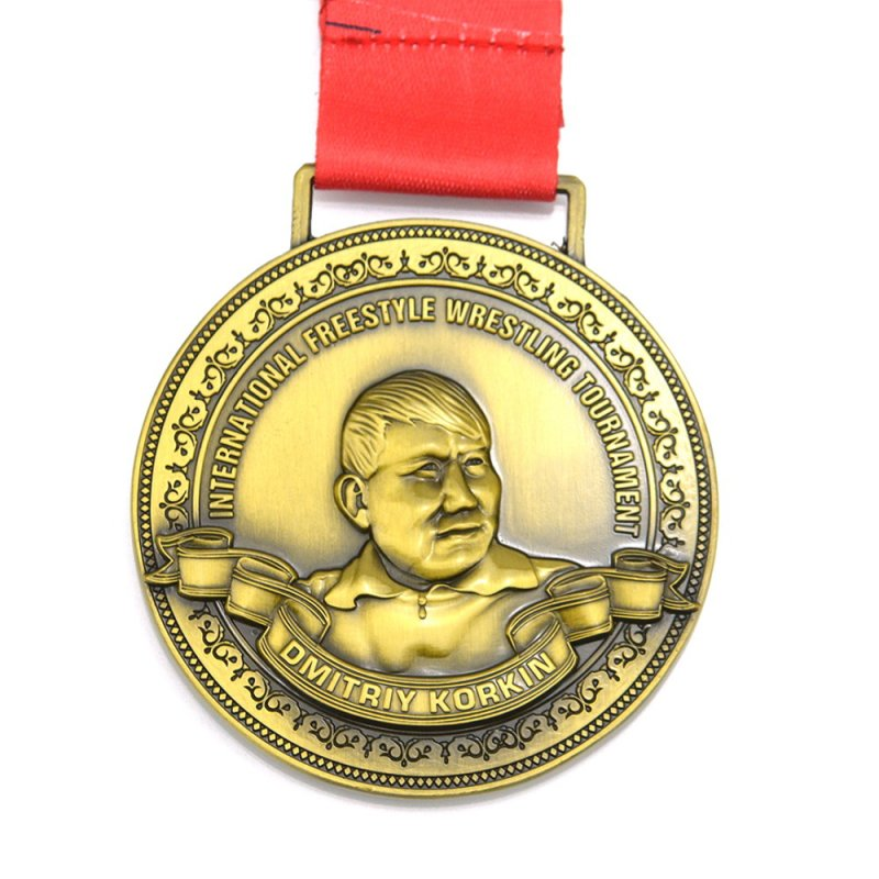 Metal Medal Medallion Custom Gold Plated Award Medals