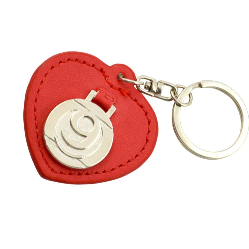 Custom Heart Key Holder Leather Keychain Pu Key Chain