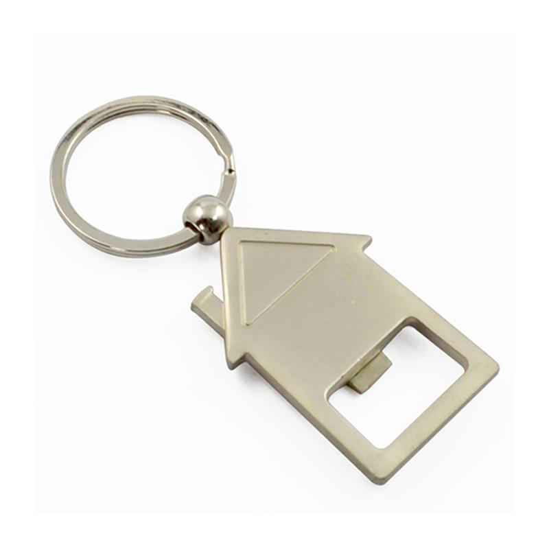 House Shape Key Holder Blank Keychain Zinc Alloy Key Chain