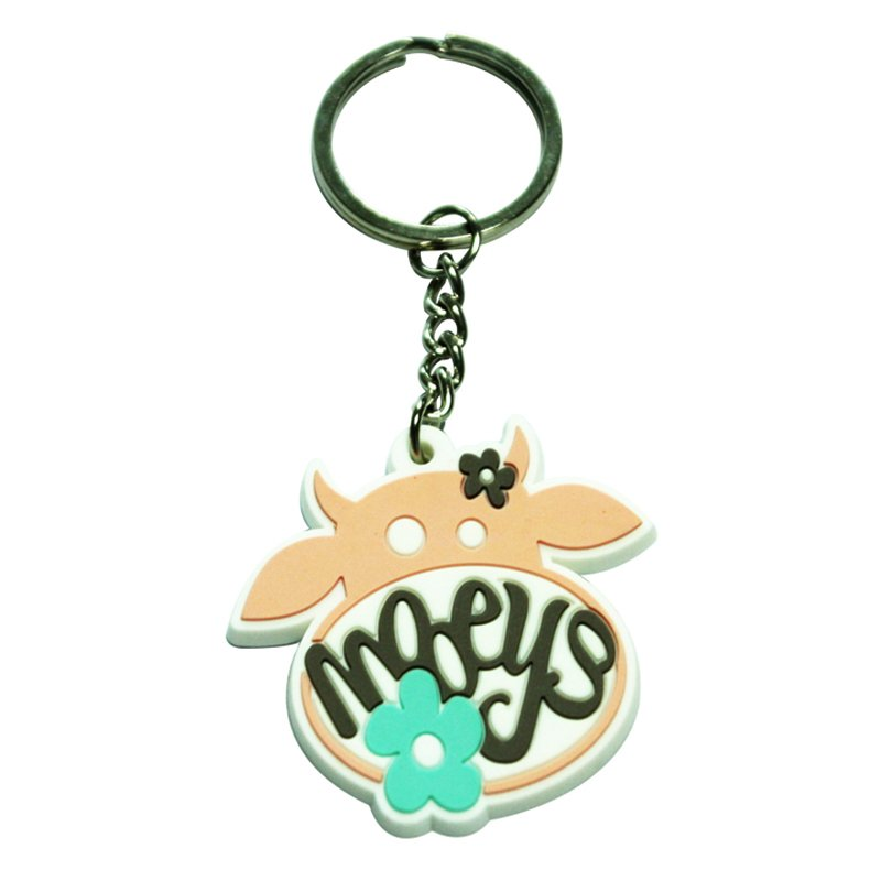 Artigifts Custom Rubber Key Holder Ring Soft Pvc Keychain