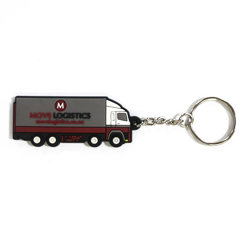 Custom Key Holder Pvc Rubber Keychain Car Logo Keyring