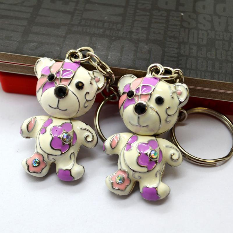 Bear Key Holder Metal 3D Jewelry Keychain Fasion Key Chain