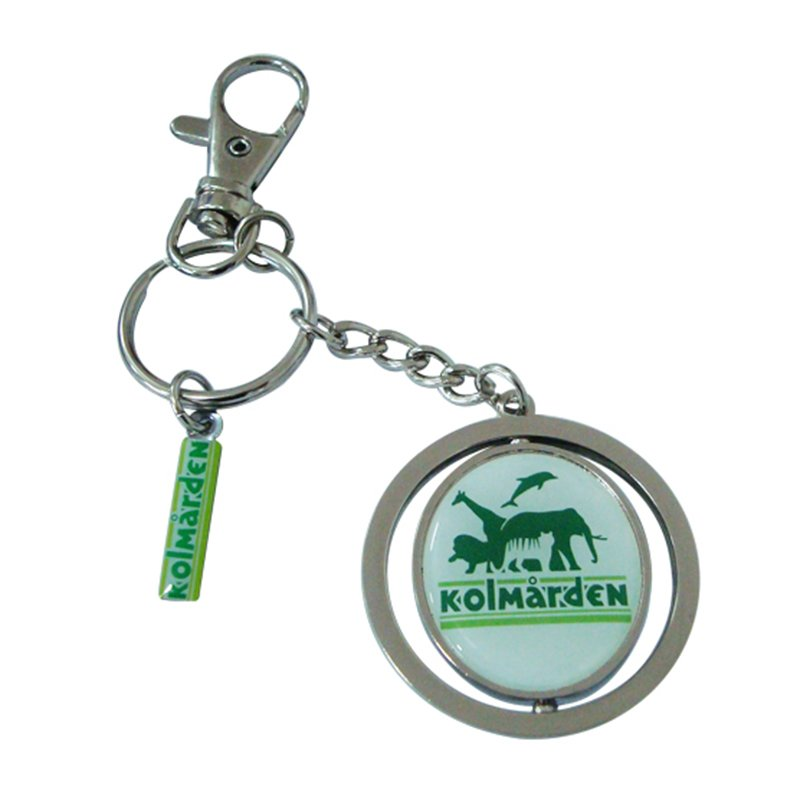 Custom Mens Key Holder Metal Spinner Keychain Printed Key Rings