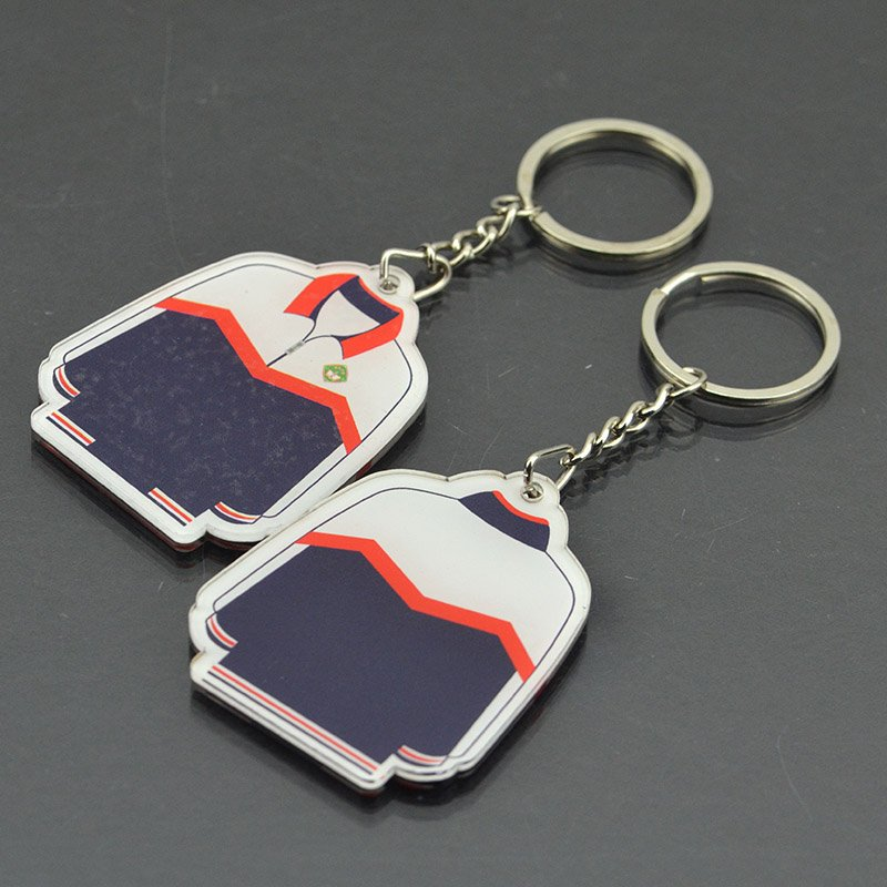 Eco-Friendly Acrylic Key Holder Printed Custom Logo Keychains