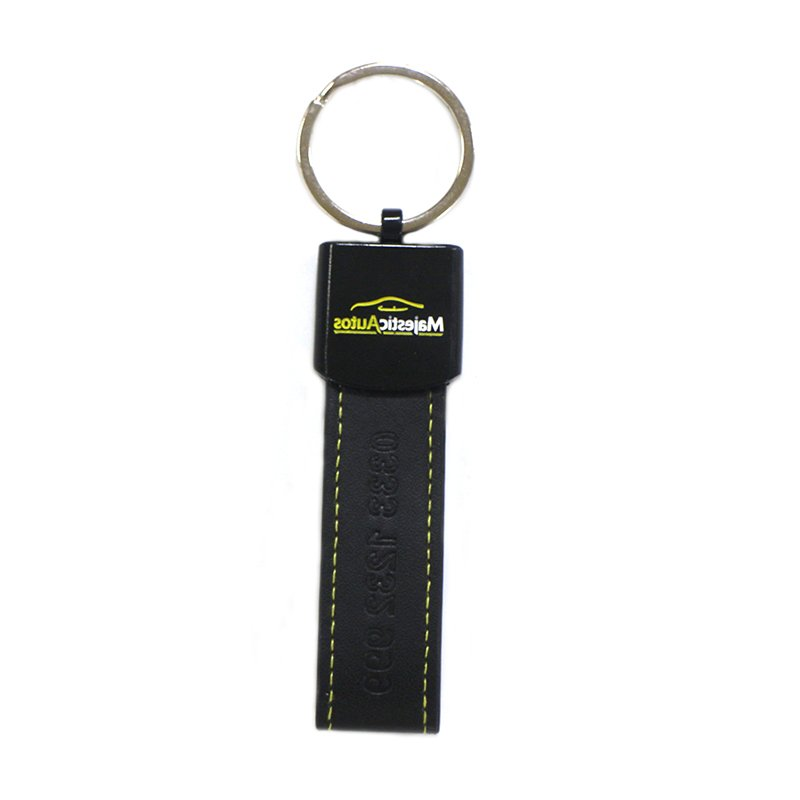 Leather Key Chain Holder No Minimum Custom Bulk Pu Keychain
