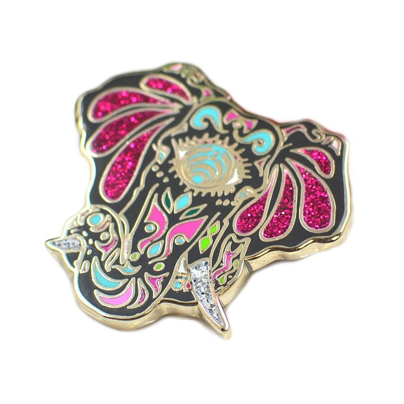 Promotional Enamel Pin Custom Glitter Lapel Pin Metal Badges