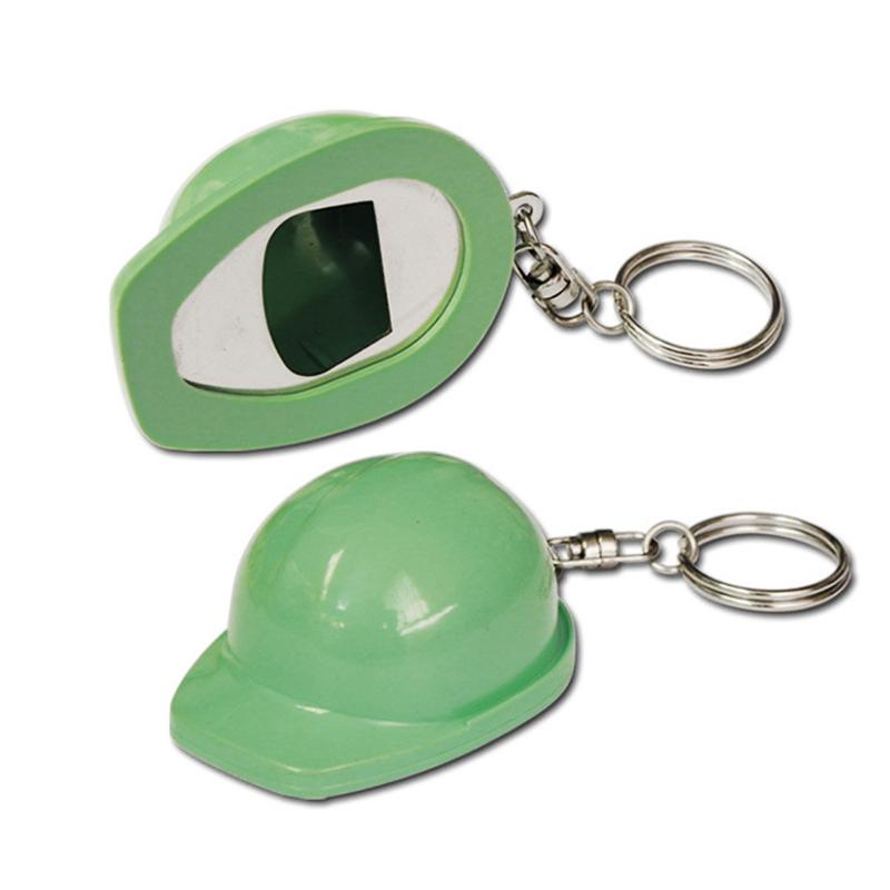 Custom Helmet Key Holder Plastic Bottle Opener Keychain