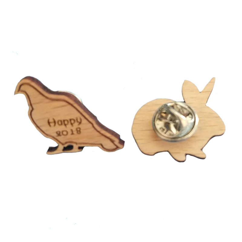 Artigifts Lapel Pin Wood Custom Bulk Wooden Pin Badges