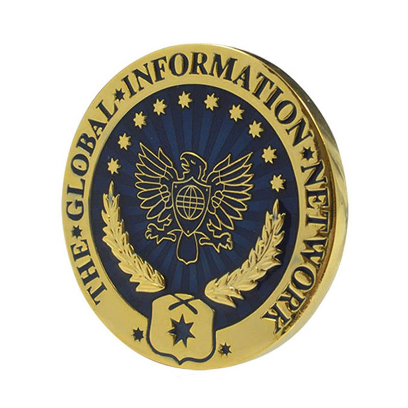 Gold Eagle Coin Custom Double Side Metal Engraved Enamel Coins