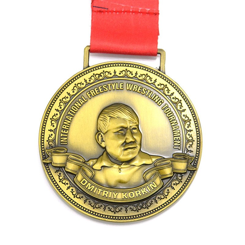 Antique Plated Medals Metal Custom Sports Award Gold Medal