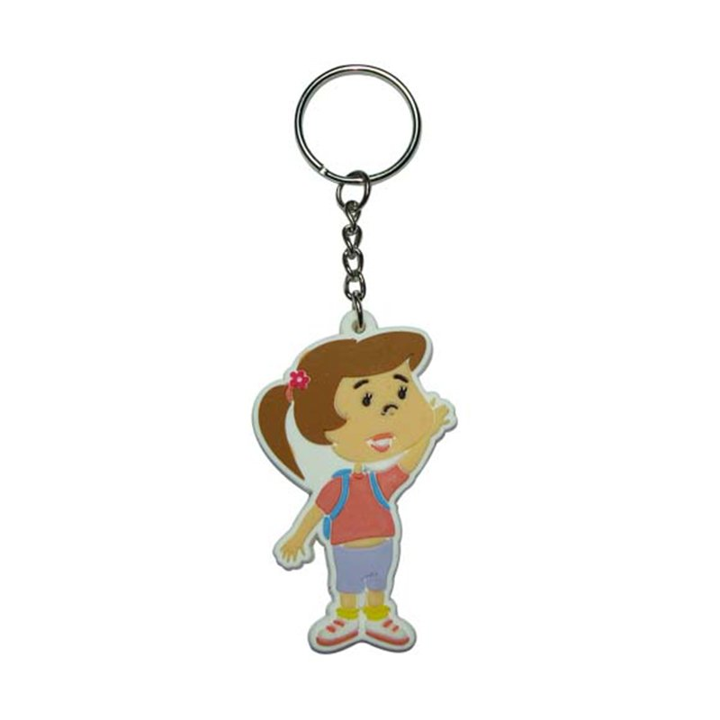 Keyring Maker Keychain Girls Custom Soft Pvc Rubber Key Chain