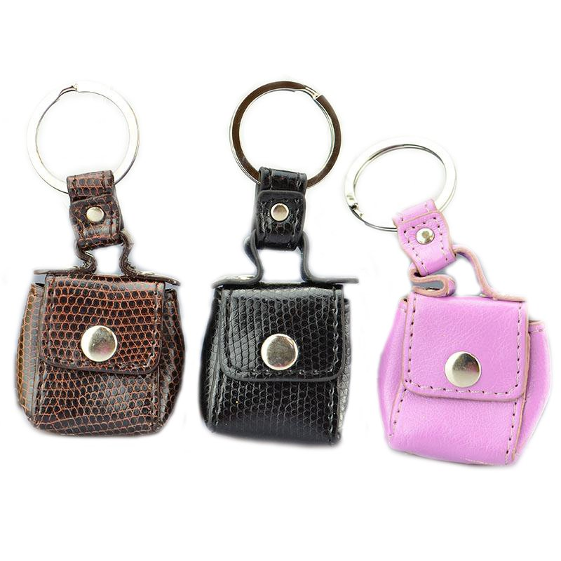 Key Ring Factory Custom Logo Pu Leather Keychain Shopping Bag