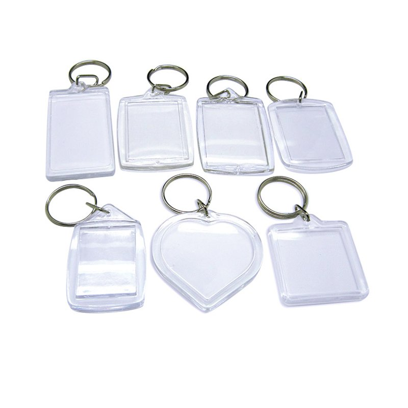 Customized Sublimation Keychain Blank Acrylic Key Chain Ring
